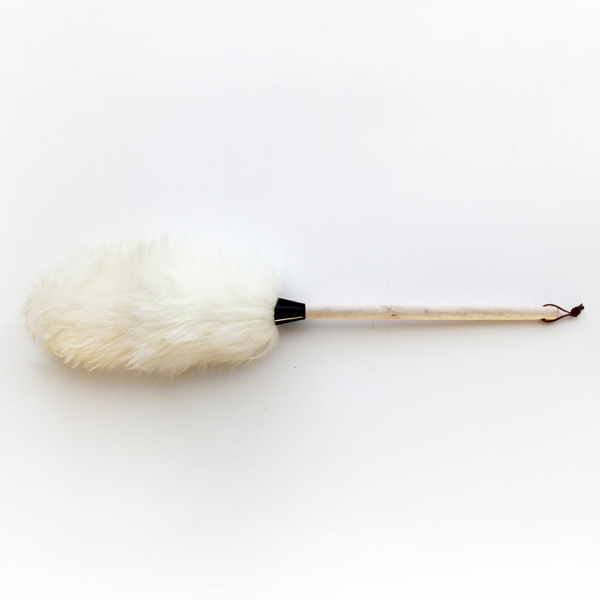 lambswool duster | 75cm | wooden handle