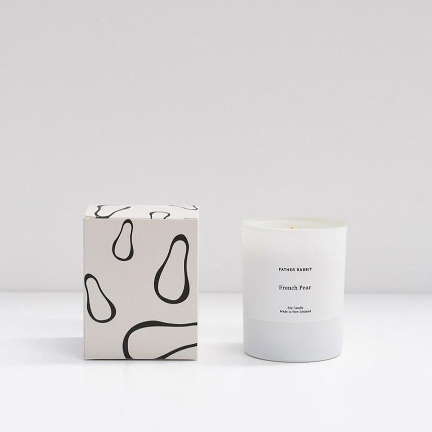french pear | soy scented candle | father rabbit goods