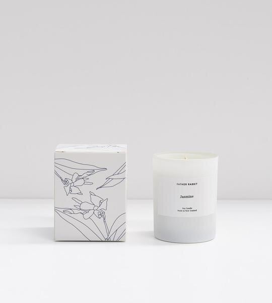 jasmine | soy scented candle | father rabbit goods