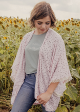 Load image into Gallery viewer, Light Pink Floral Kimono