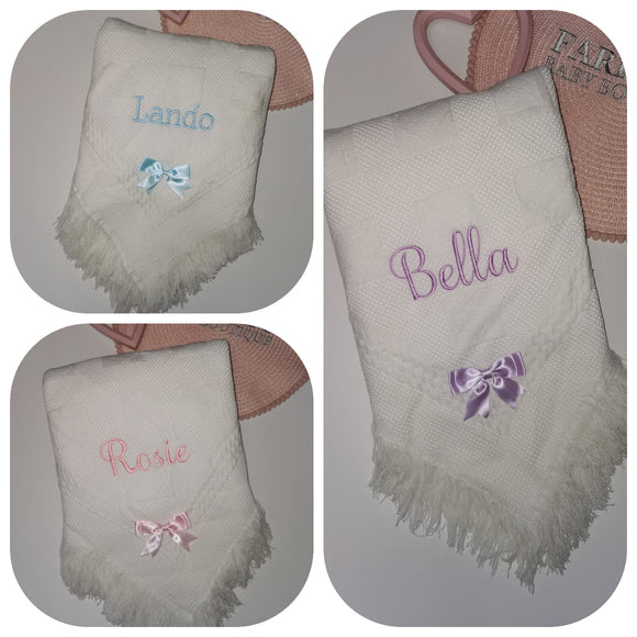 Personalised Bow Shawls