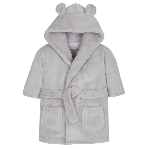 Grey Super soft dressing gown