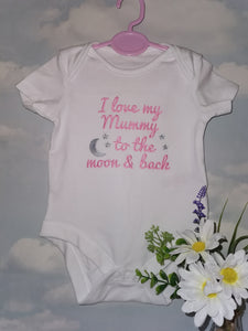 I love mummy to the moon & back vest