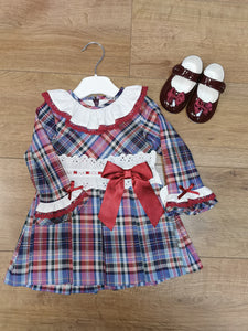 Stunning Girls Spanish tartan dress