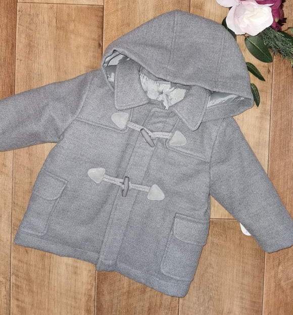Boys grey duffle coat