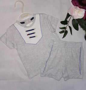 Grey Tshirt & shorts set