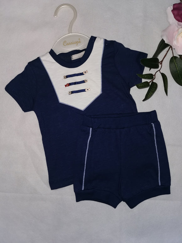 Navy Tshirt & shorts set