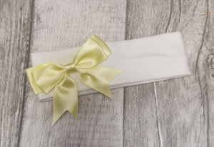 White & lemon girls headband  n/b-12m