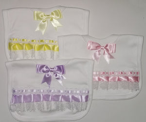LACE, RIBBON & BOW FRILLY BIBS