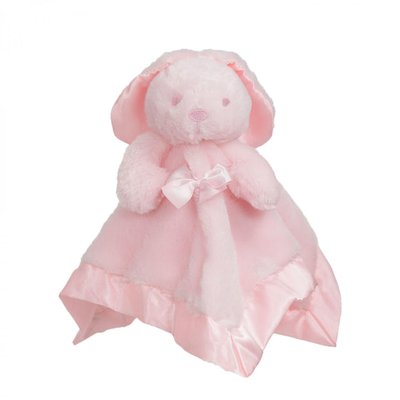 Pink fluffy rabbit comforter