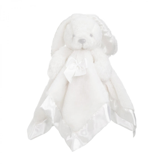 Personalised white fluffy bunny comforter