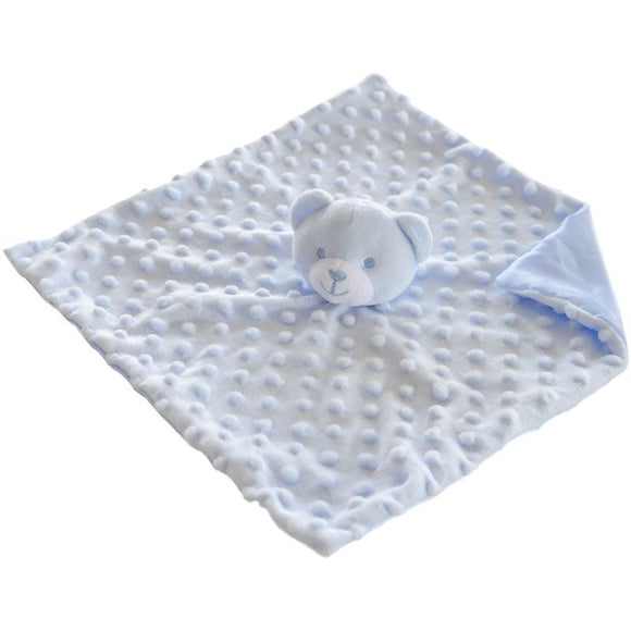 Blue bobble bear comforter