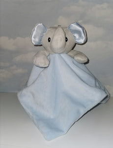 Persobalised blue & grey elephant comforter