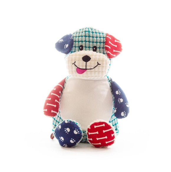 Personalised Cubbies harlequin Dog - LIMITED EDITION