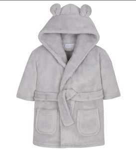 Grey SuperSoft personalised dressing gown