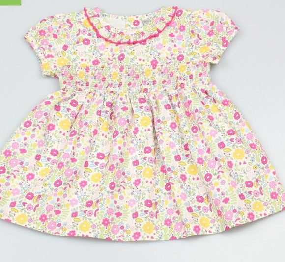 Girls floral smocked summer dress