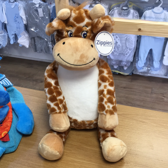 Personalised cheeky giraffe teddy