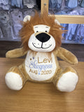 Personalised Lion teddy