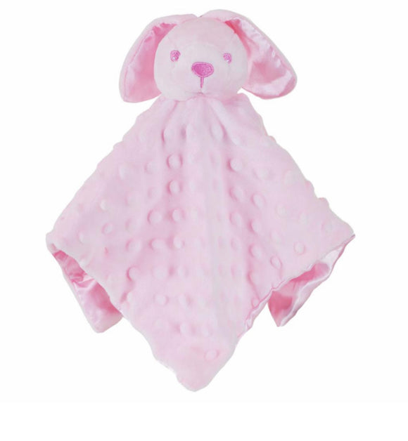 Pink bobble silk back Rabbit comforter - Personalise me