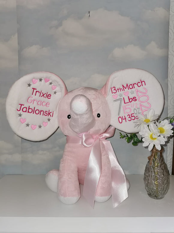 Personalised Pink Elephant Dumble