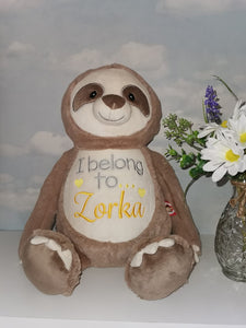 Personalised Cubbies Sloth Teddy