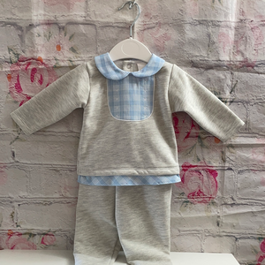 Grey and Blue lounge wear set