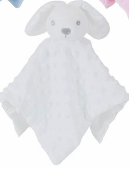 White bobble silk back Rabbit comforter - Personalise me