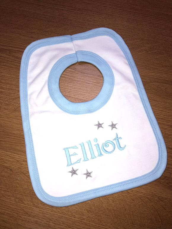 Personalised Bib Blue