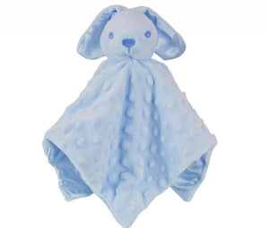 Blue bobble silk back Rabbit comforter - Personalise me
