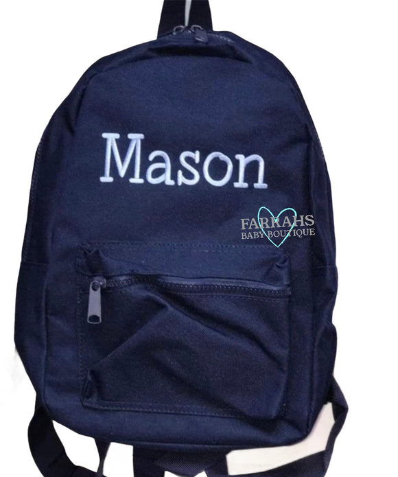 Personalised Navy toddler backpacks