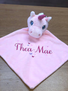 Pink Cubbies unicorn comforter - Personalise me