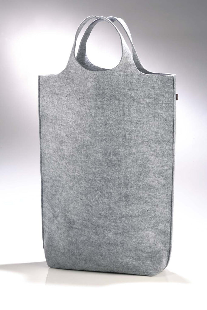 Laundry bag from felt in light grey