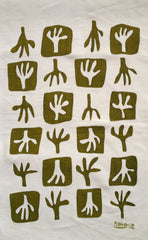 Limited Edition Hand Printed tea towel - PLANTFORM