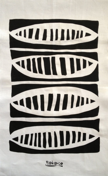 Limited Edition Hand Printed tea towel - PODS