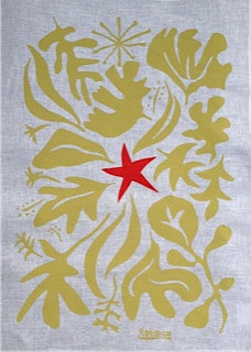 """New Leaf"" Festive Season tea towel"