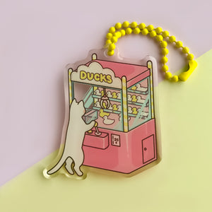 UFO Machine Cat Acrylic Charm