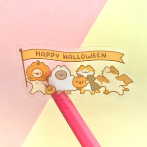 Happy Halloween Clear Sticker (Small)
