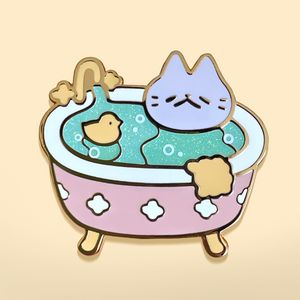Bathtime Kitten Enamel Pin
