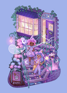 Moon Stairs Potion Shop Print