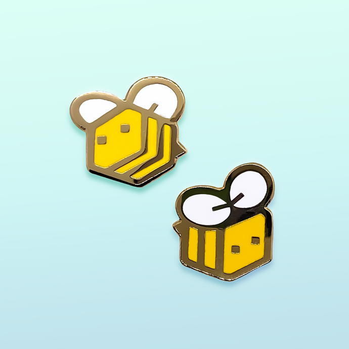 Minecraft Bee Enamel Pins