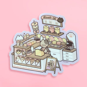 Bubble Tea Shop Sticker