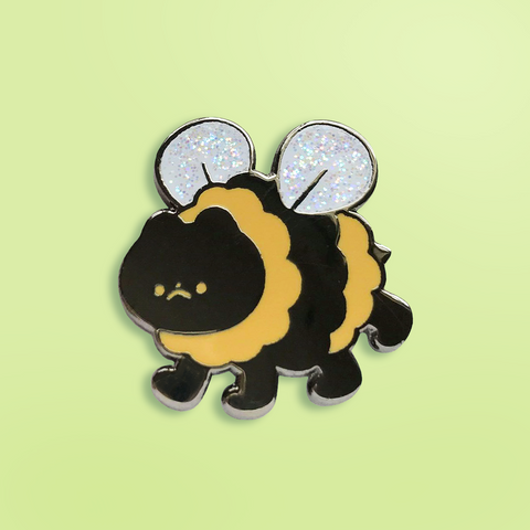 Bumble Cat Enamel Pin