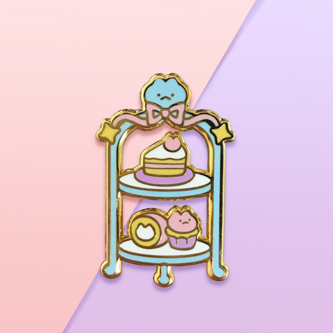 Kitten Cake Tier Enamel Pin