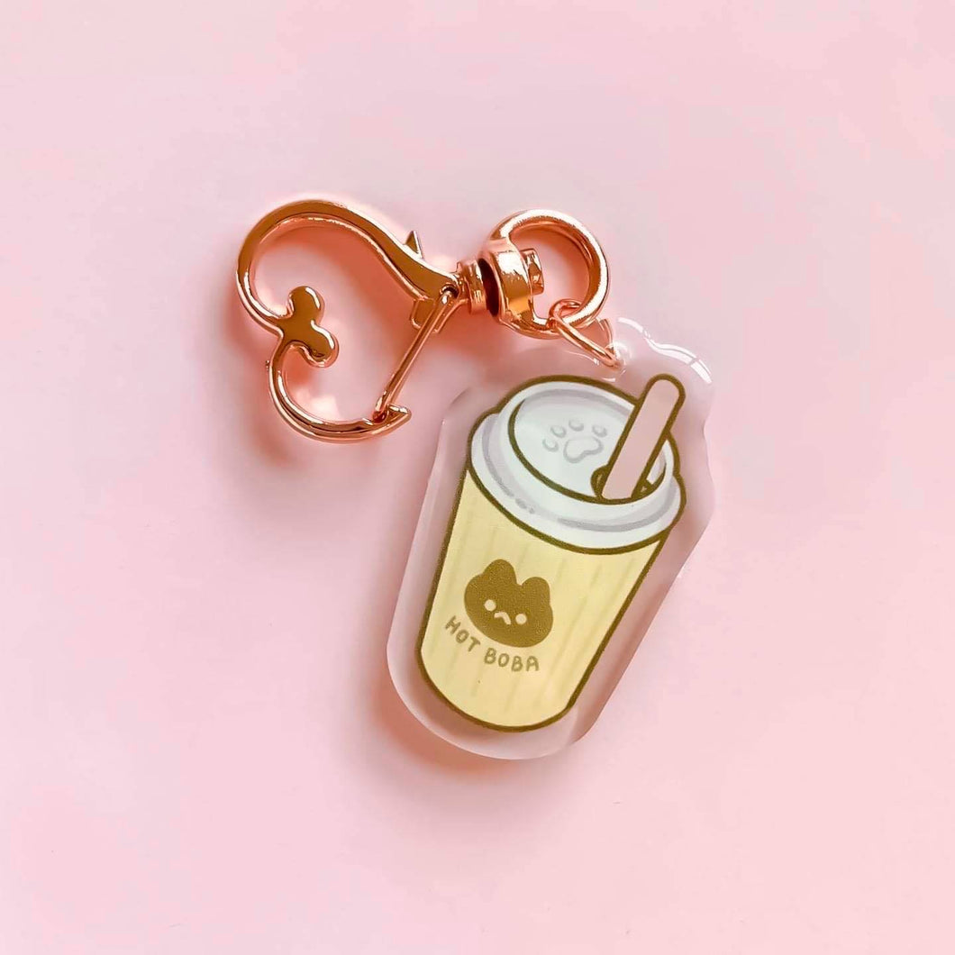 Hot Bubble Tea Acrylic Charm