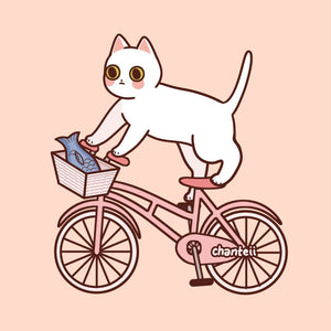 Bicycle Cat Print