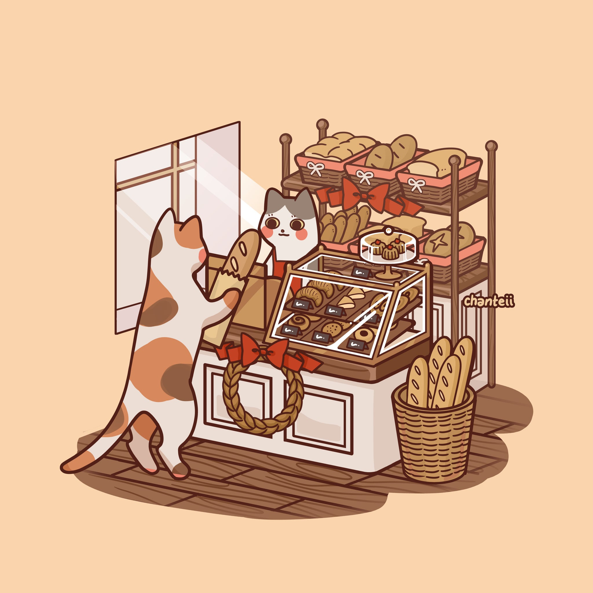 Bakery Cat Print