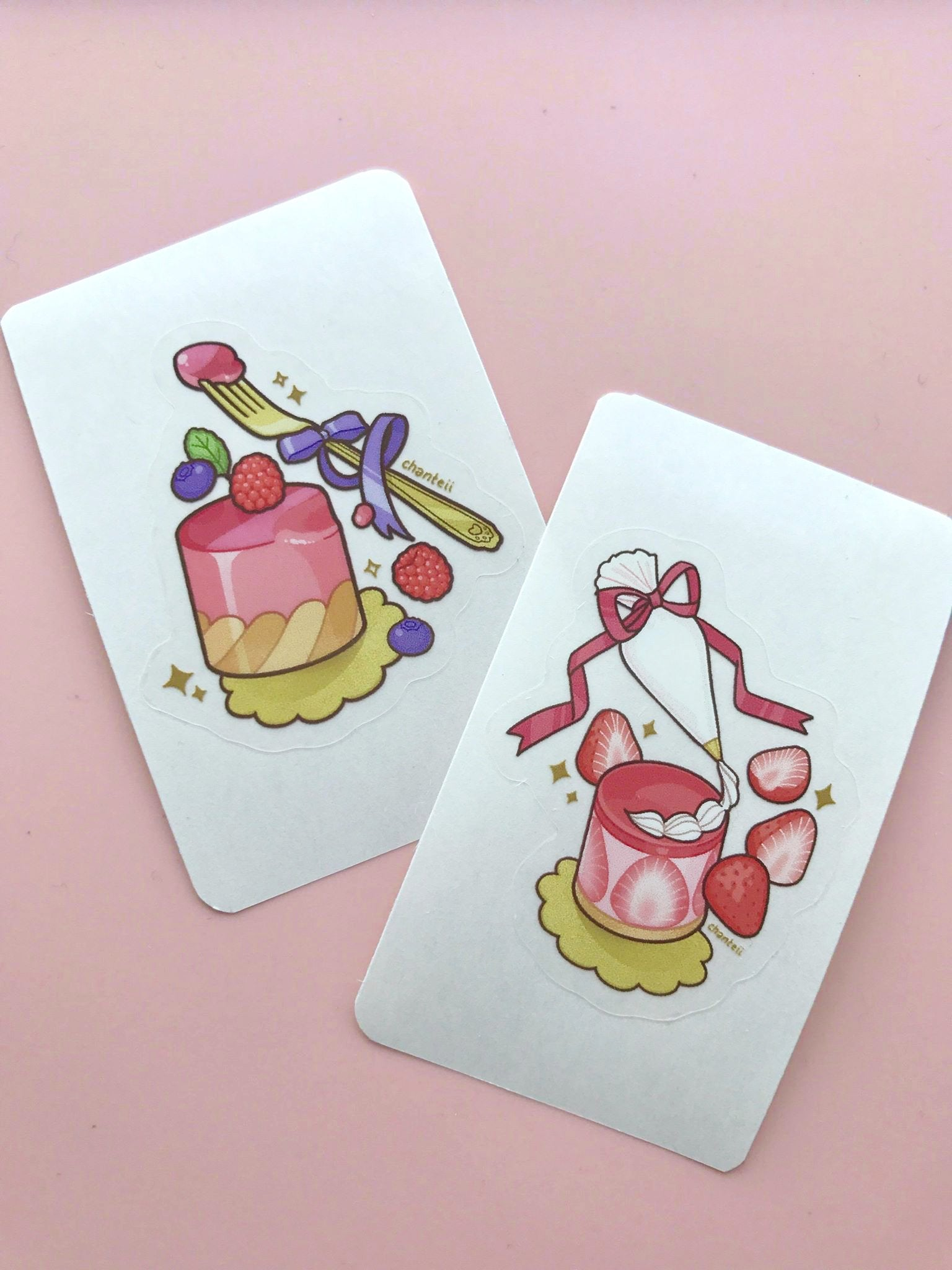 Berry Cake Clear Stickers