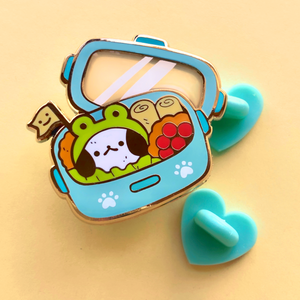 Puppy's Blue Bento Enamel Pin