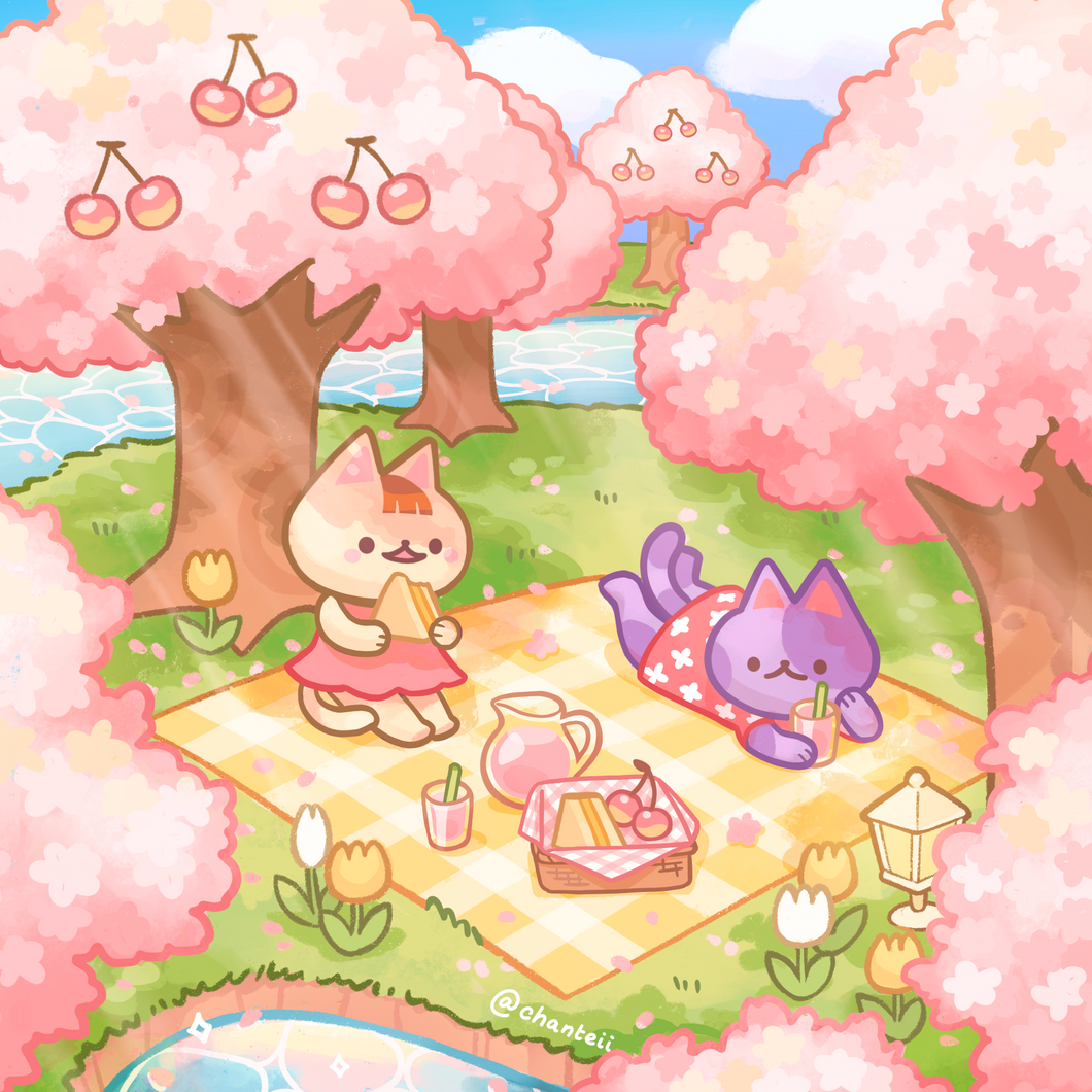Animal Crossing Cherry Blossom Print