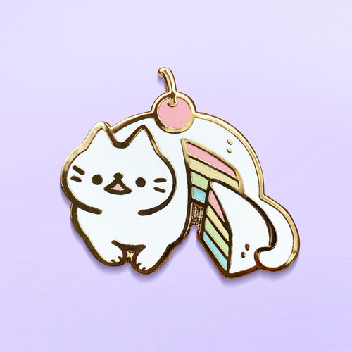 Rainbow Cake Cat Enamel Pin (B grade)
